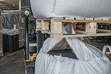 Efficient storage and transportation for bulk bags