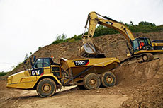 Cat® C2 series articulated trucks feature more power