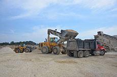 Volvo CE quarry Texan stone
