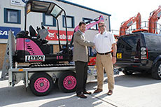 Bobcat excavator raises funds for cancer