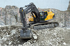 Volvo fleet in operation at BHW limestone quarry