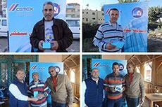 Cemex distributes prizes in Egypt