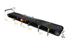Electronic warning systems enhance conveyor belt safety