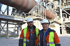 Slantsy cement plant tour for grandfather