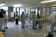 Taster session in Construction Youth Trust Training Centre