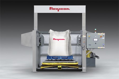 Flexicon's Bulk Bag Conditioner features laser safety curtain