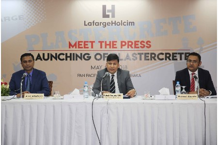 LafargeHolcim Bangladesh launches specialised plastering cement